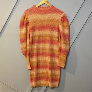 Leith space dye sweater dress balloon sleeve